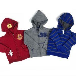 Boys 3T Sweatshirt Bundle Lot of 3 Hoodies